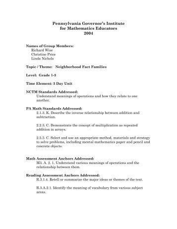 Plan Template Pennsylvania College Of Technology - College lesson plan template