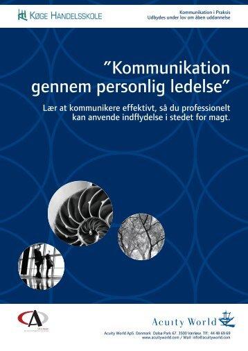 """Kommunikation gennem personlig ledelse"""""""