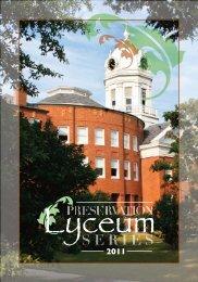 Lyceum Program Spring 2011 - Monroeville - Alabama Trust for ...