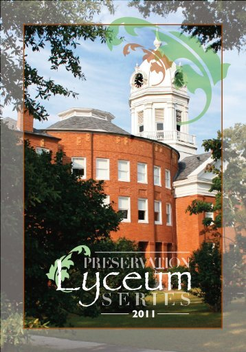 Lyceum Program Spring 2011 - Monroeville - Alabama Trust for ...
