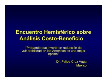 PROGRAMA HOSPITAL SEGURO Costo Beneficio - dgdif
