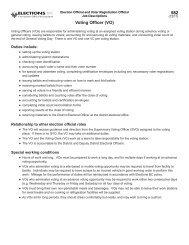 Job Descriptions - Elections BC