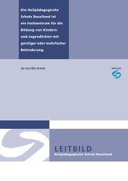 LEITBILD - Heilpädagogische Schule Baselland