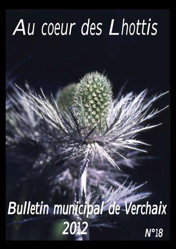 Bulletin municipal de Verchaix 2012