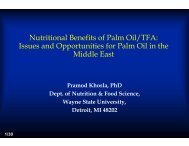 Nutritional Benefits of Palm Oil - American Palm Oil Council