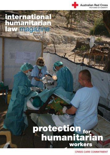 humanitarian on - Australian Red Cross