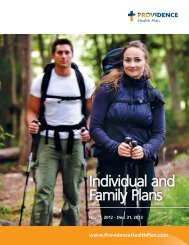 Individual and Family Plans - Providence Health Plan