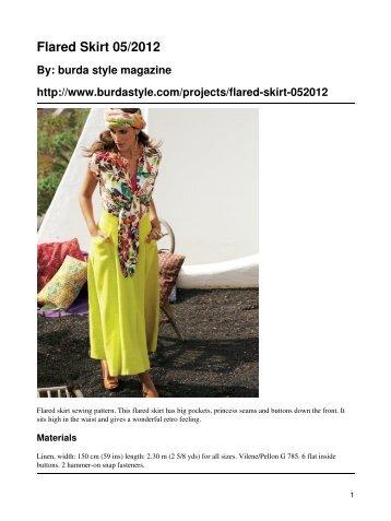 Flared Skirt 05/2012 - BurdaStyle.com