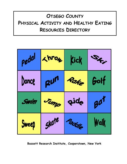otsego county physical activity and healthy eating resources directory