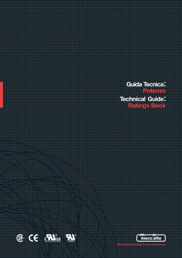 Guida Tecnica Technical Guide Ratings Book Potenze