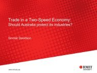 Trade in a Two-Speed Economy: Should Australia protect its industries