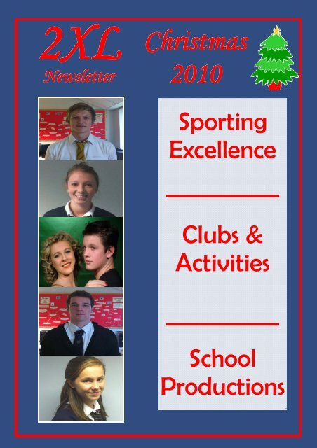 Front Cover and back cover 2010 christmas - Stanwell School