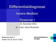 Differentialdiagnose Innere Medizin Dyspnoe I - Medizinische Klinik 1