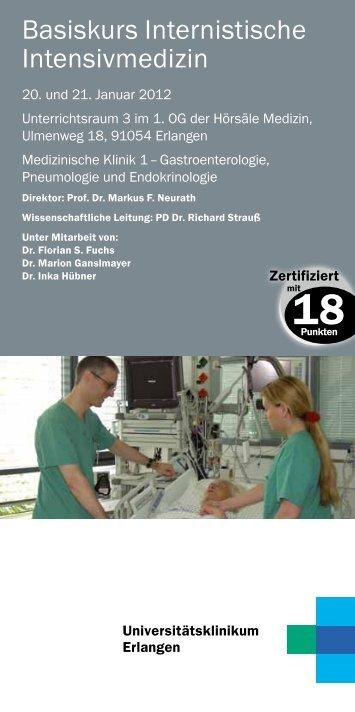 Programm - Medizin 1 - Universitätsklinikum Erlangen