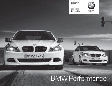 Ladda ner. Aktuell prislista för BMW Performance