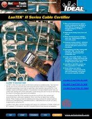 Ideal 33-993-FA01 LanTEK II-1000 Brochure - Netzerotools.com