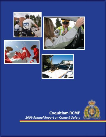 Coquitlam RCMP Detachment 2009 Annual Report - Village of ...
