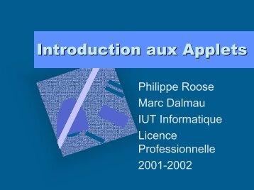Introduction aux Applets - IUT Bayonne