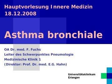 Symptome des Asthma bronchiale - Medizin 1