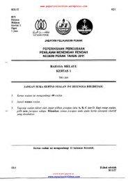 Bahasa Melayu Q&A - Trial Paper Collection