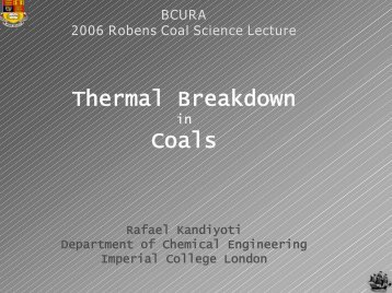 Thermal Breakdown Coals - bcura