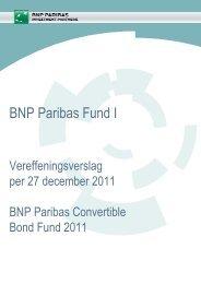 Vereffeningsverslag - BNP Paribas Investment Partners