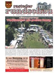 rasteder rundschau, Ausgabe September 2012