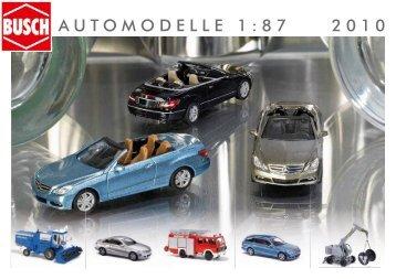 AUTOMODELLE 1:87 2010 - Busch