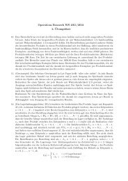 Operations Research WS 2011/2012 2. ¨Ubungsblatt