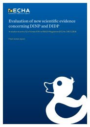 Evaluation of new scientific evidence concerning DINP and DIDP