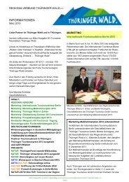 Newsletter des Regionalverbundes - Ausgabe 3 ... - Thüringer Wald