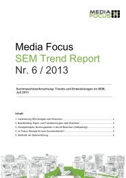 SEM Trend Report 05/2013 - Marketing.ch