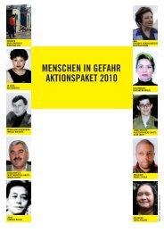 menschen in gefahr aktionspaket 2010 - Amnesty International ...