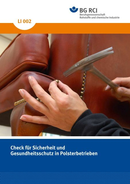 Check Polsterer (Li002) - Berufsgenossenschaft Rohstoffe und ...