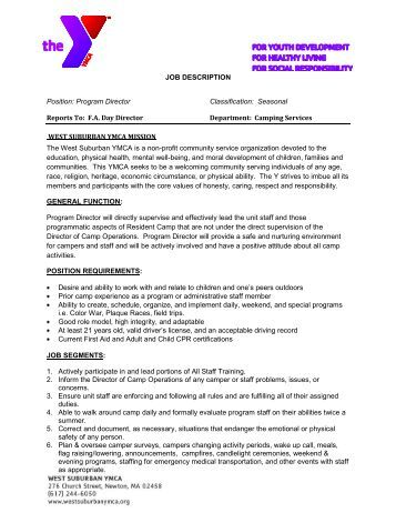Job Description Americorps Program Director  Good Samaritan