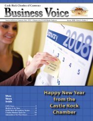 January 2008 - Castle Rock Chamber of Commerce