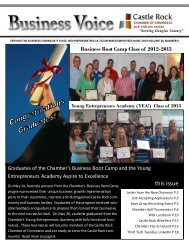 Monday, June 10th - Castle Rock Chamber of Commerce