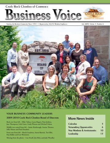 July 2009 - Castle Rock Chamber of Commerce