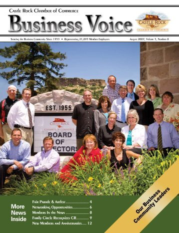 More News Inside - Castle Rock Chamber of Commerce