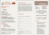 Flyer 5 Projektleiterseminar - Wohnprojekte Portal