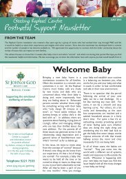 Welcome Baby - St John of God Health Care