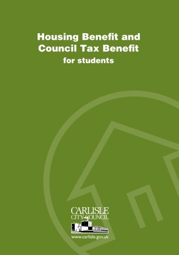 Housing Benefit and Council Tax Benefit - Carlisle City Council
