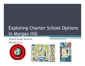 Exploring Charter School Options - Morgan Hill Unified School District