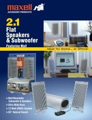 Flat Speakers & Subwoofer - Maxell Canada