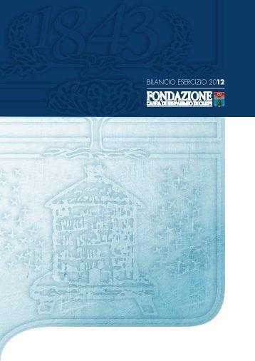Scarica il bilancio in formato PDF - Fondazione Cassa di Risparmio ...