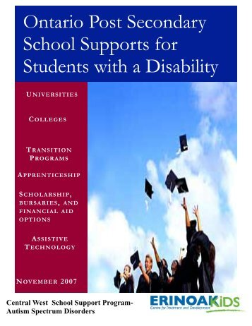 Ontario Post Secondary School Supports for Students with a Disability