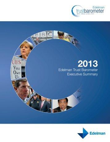 Edelman Trust Barometer Executive Summary - PressPage