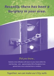 Recently, there has been a burglary in your area. Did you know...