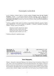 Paneurópska vysoká škola Short Biography