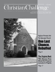 One Last Chance, Rebuffed - The Christian Challenge